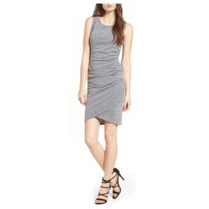 Leith ruched heather grey tank dress